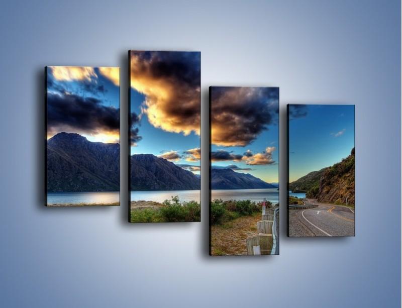 Obraz na płótnie – Droga w jedną stronę – czteroczęściowy KN752W2