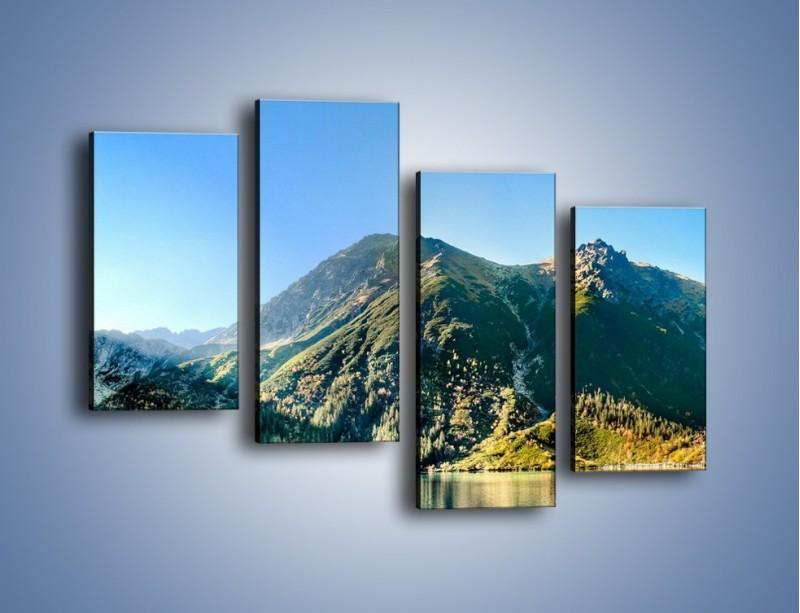 Obraz na płótnie – Chłodny klimat górski – czteroczęściowy KN844W2