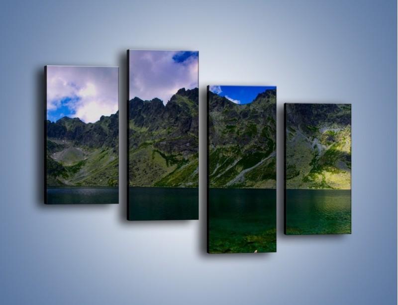 Obraz na płótnie – Horyzont górskich szczytów – czteroczęściowy KN856W2