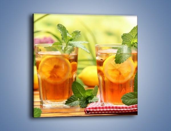 Obraz na płótnie – Herbaciany łyk ochłody – jednoczęściowy kwadratowy JN293