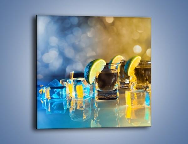 Obraz na płótnie – Zimne shoty z limonką – jednoczęściowy kwadratowy JN294