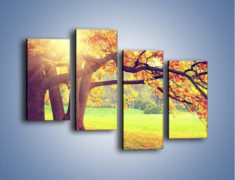 Obraz na płótnie – Jesienią w parku też jest pięknie – czteroczęściowy KN967W2
