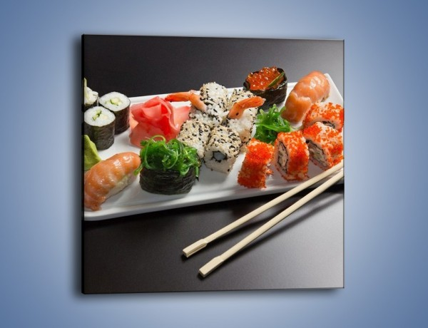 Obraz na płótnie – Kuchnia azjatycka na półmisku – jednoczęściowy kwadratowy JN295