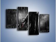 Obraz na płótnie – Brutalny męski świat – czteroczęściowy L105W2