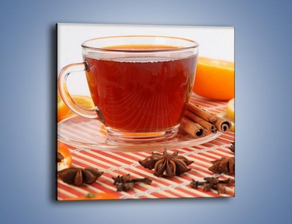 Obraz na płótnie – Moc herbaty w małej filiżance – jednoczęściowy kwadratowy JN297