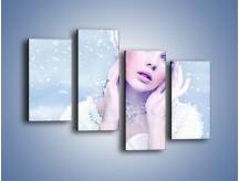 Obraz na płótnie – Delikatna królowa śniegu – czteroczęściowy L224W2