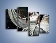 Obraz na płótnie – Dama w białych bandażach – czteroczęściowy L278W2