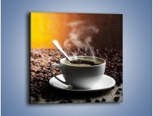 Obraz na płótnie – Aromatyczna filiżanka kawy – jednoczęściowy kwadratowy JN298