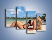 Obraz na płótnie – Czas rajskich plaży – czteroczęściowy L316W2