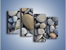 Obraz na płótnie – Kamienie duże i małe – czteroczęściowy O006W2