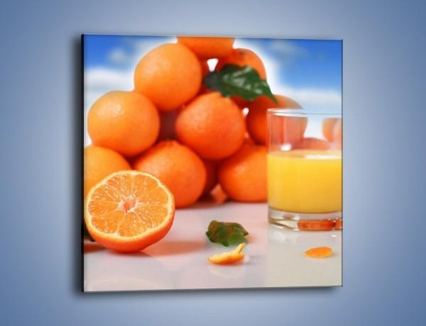 Obraz na płótnie – Szklanka soku pomarańczowego – jednoczęściowy kwadratowy JN301