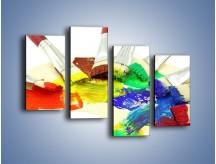 Obraz na płótnie – Kolory pędzlem malowane – czteroczęściowy O046W2