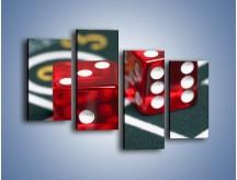 Obraz na płótnie – Kostki do gry dla dorosłych – czteroczęściowy O059W2