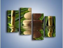 Obraz na płótnie – Kamień w bambusowym okienku – czteroczęściowy O068W2