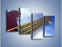 Obraz na płótnie – Gitara z bliska – czteroczęściowy O088W2