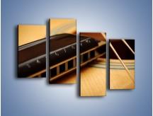 Obraz na płótnie – Instrumenty z drewna – czteroczęściowy O108W2