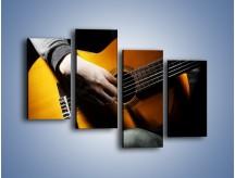 Obraz na płótnie – Chłopiec z gitarą – czteroczęściowy O109W2