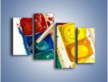 Obraz na płótnie – Kolorowy świat malowany farbami – czteroczęściowy O116W2