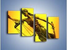 Obraz na płótnie – Figurka ważna w świecie prawa – czteroczęściowy O164W2