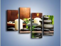 Obraz na płótnie – Masaż przy świecach – czteroczęściowy O176W2