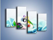 Obraz na płótnie – Kolorowa maska na błękicie – czteroczęściowy O180W2