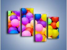 Obraz na płótnie – Basen z kolorowymi piłeczkami – czteroczęściowy O208W2