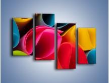 Obraz na płótnie – Kolorowe rulony – czteroczęściowy O217W2