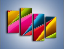 Obraz na płótnie – Idealna kolorowa kompozycja – czteroczęściowy O219W2