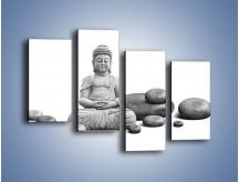 Obraz na płótnie – Budda wśród kamieni – czteroczęściowy O229W2