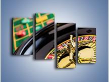 Obraz na płótnie – Czas drogocenny w kasynie – czteroczęściowy O238W2