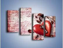 Obraz na płótnie – Klucz do serca – czteroczęściowy O246W2