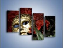 Obraz na płótnie – Maska pełna tajemnicy – czteroczęściowy O252W2