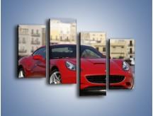 Obraz na płótnie – Czerwone Ferrari California – czteroczęściowy TM057W2