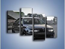 Obraz na płótnie – Czarne BMW E39 M5 – czteroczęściowy TM072W2