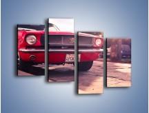Obraz na płótnie – Czerwony Ford Mustang – czteroczęściowy TM087W2