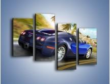 Obraz na płótnie – Bugatti Veyron – czteroczęściowy TM123W2