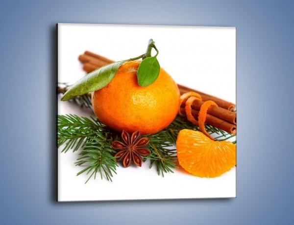 Obraz na płótnie – Pomarańcza na święta – jednoczęściowy kwadratowy JN306
