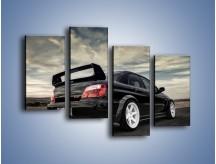 Obraz na płótnie – Czarne Subaru Impreza WRX Sti – czteroczęściowy TM133W2