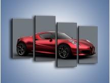 Obraz na płótnie – Alfa Romeo 4C Coupe – czteroczęściowy TM140W2