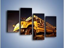 Obraz na płótnie – Amerykański School Bus – czteroczęściowy TM146W2