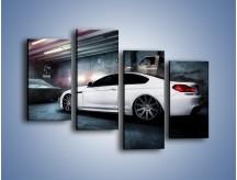 Obraz na płótnie – BMW M6 F13 w garażu – czteroczęściowy TM165W2