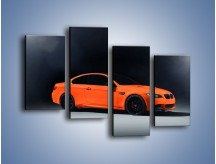 Obraz na płótnie – BMW M3 E92 Coupe Orange – czteroczęściowy TM168W2