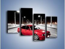 Obraz na płótnie – BMW 5 E34 na moście – czteroczęściowy TM227W2