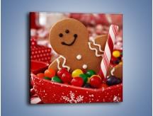 Obraz na płótnie – Ciasteczkowy ulubieniec dzieci – jednoczęściowy kwadratowy JN308