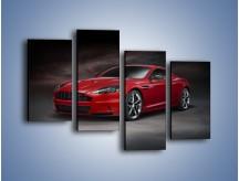 Obraz na płótnie – Aston Martin DBS Carbon Edition – czteroczęściowy TM242W2
