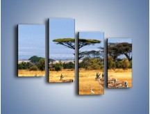 Obraz na płótnie – Antylopy w słonecznej afryce – czteroczęściowy Z003W2