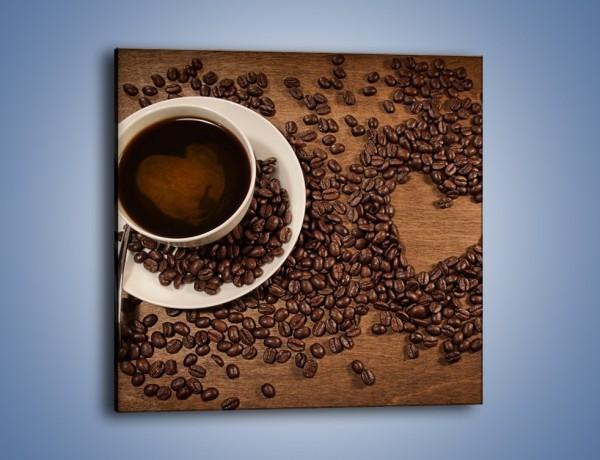 Obraz na płótnie – Miłość do kawy – jednoczęściowy kwadratowy JN312