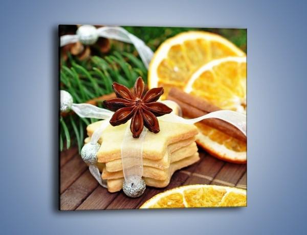 Obraz na płótnie – Ciastka z pomarańczą – jednoczęściowy kwadratowy JN314