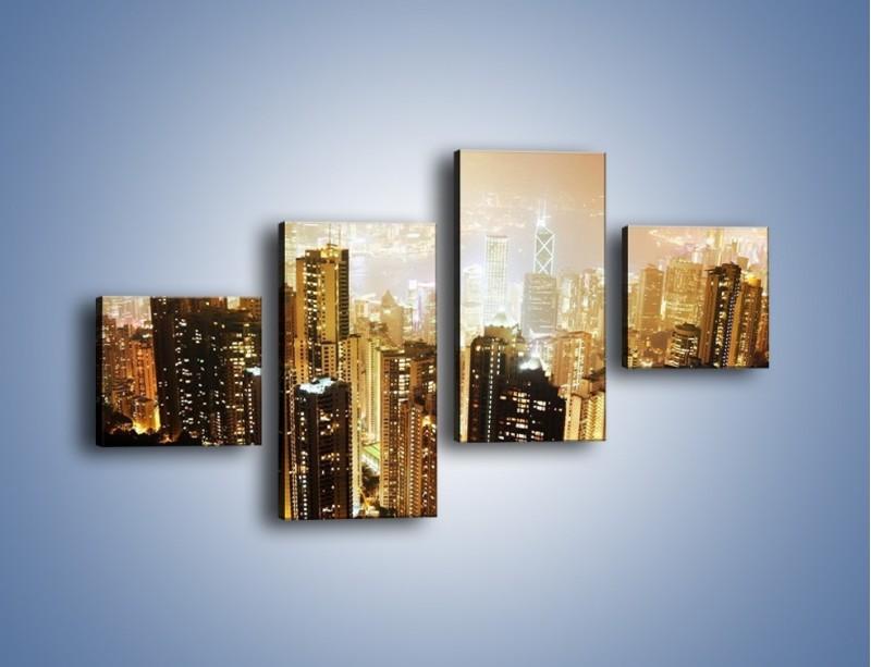 Obraz na płótnie – Miasto widziane z góry – czteroczęściowy AM007W3