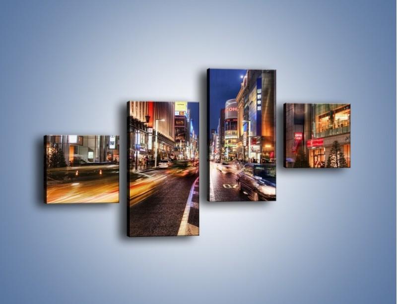 Obraz na płótnie – Tokyo w ruchu – czteroczęściowy AM015W3